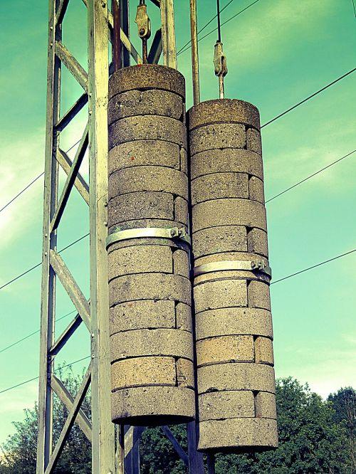 strommast concrete high voltage