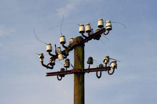 strommast sky power poles