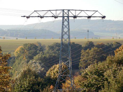 strommast elktrizitaet power line