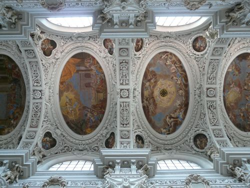 stucco ceiling blanket frescoes