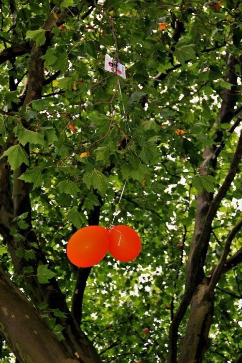 stuck air balloon competition orange