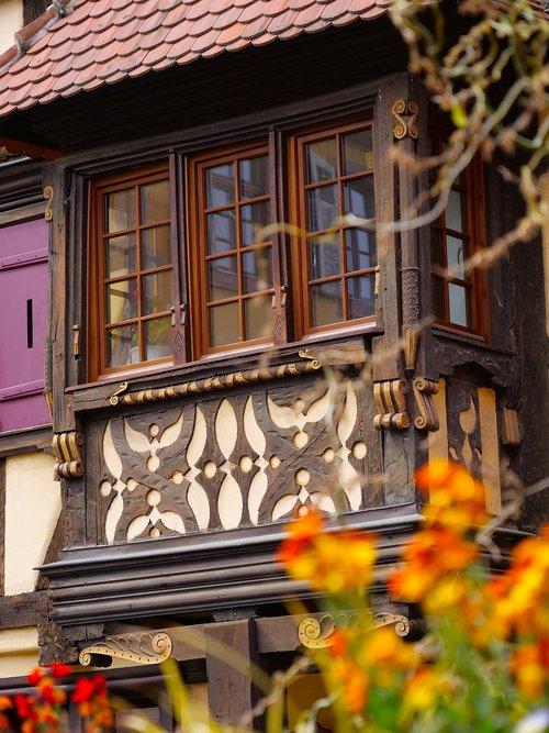 stud  alsace  house facade
