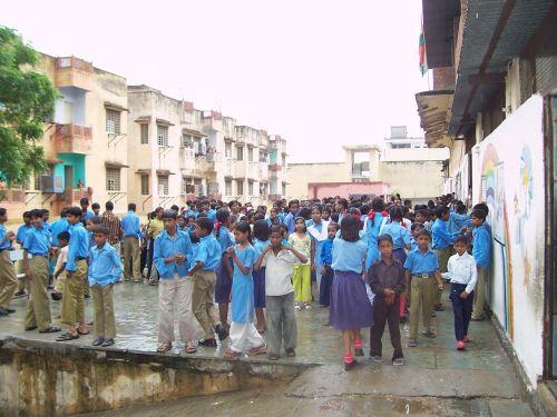 students school children
