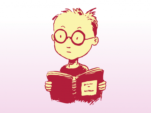 study,boy,book,glasses,learning,reading,open book,smart,geek,nerd,free vector graphics