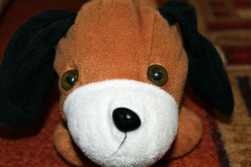 stuffed animal dog floppy ear