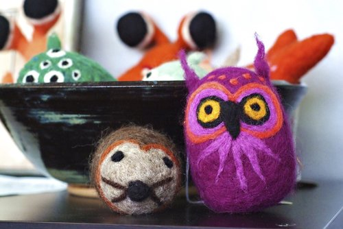 stuffed owl  craft animals  yarn animals