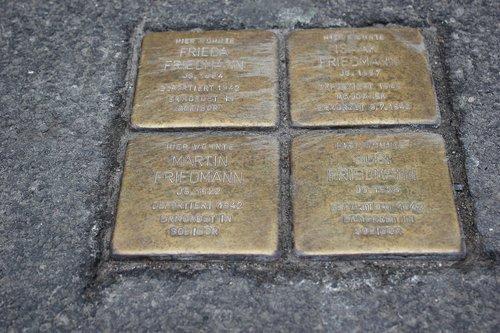 stumbling blocks  commemorate  brass plate