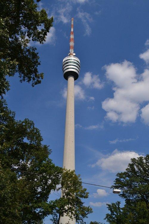 stuttgart  tv tower  high