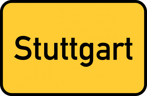 stuttgart town sign city limits sign