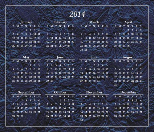 Stylized 2014 Calendar