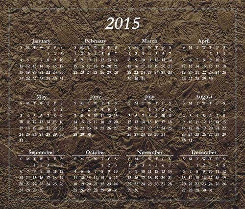 Stylized 2015 Calendar