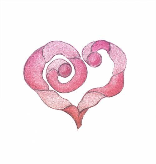 Stylized Pink Heart