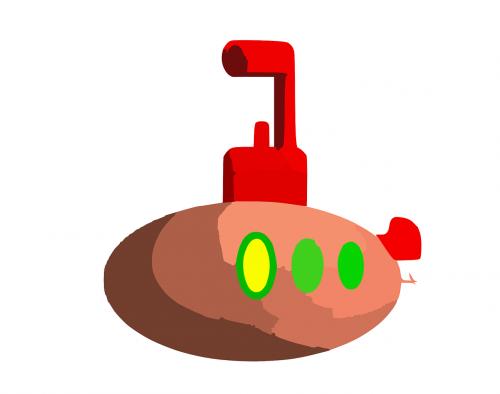submarine periscope underwater