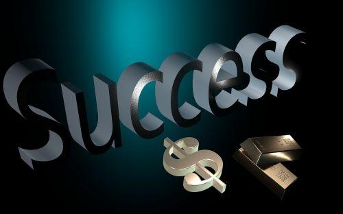success gold dollar sign