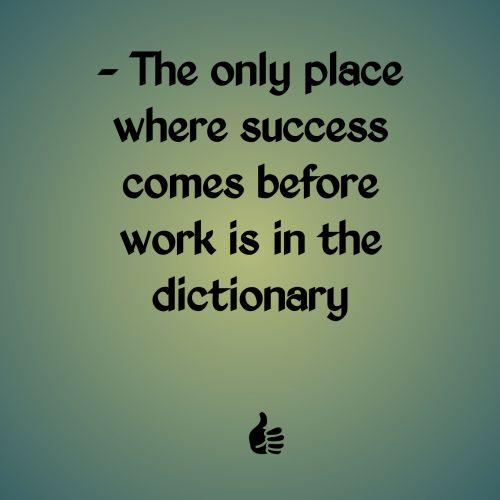 Success Before Work