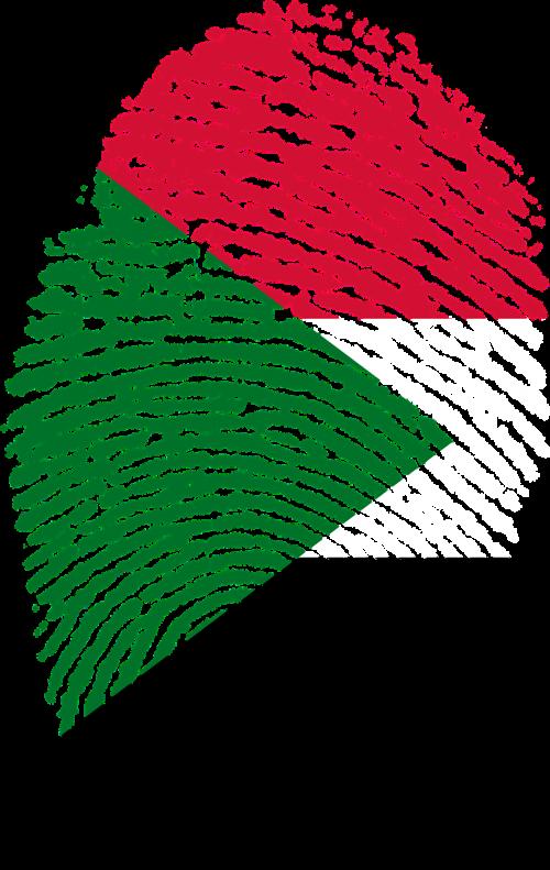 sudan flag fingerprint