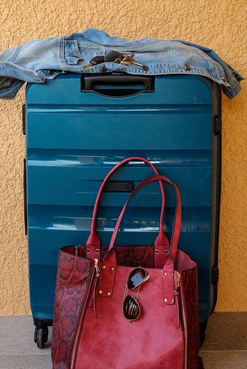 suitcase departure travel