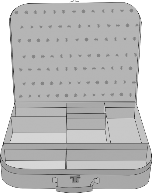 suitcase compartment luggage