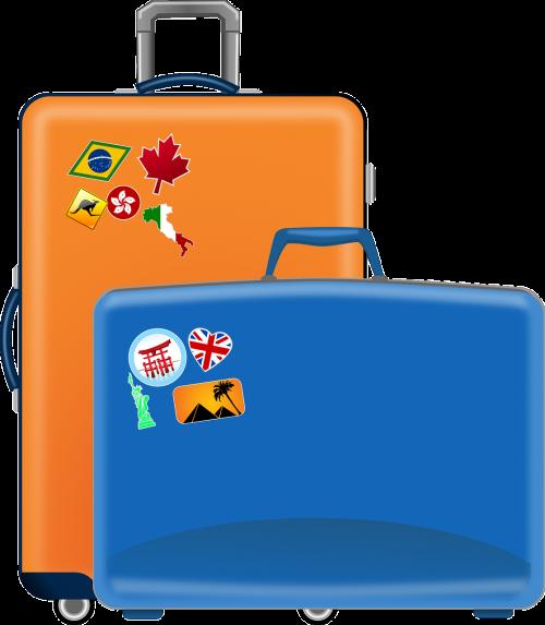 suitcases flight travel