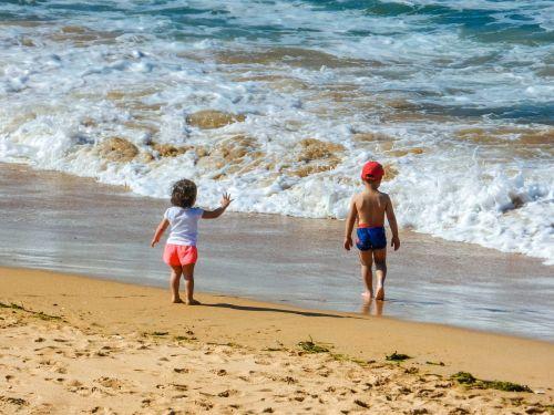 summer beach waves