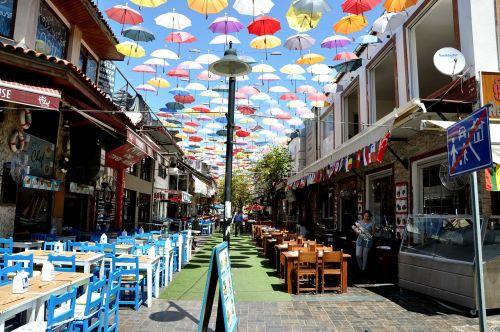 summer city pedestrian zone