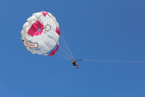 summer parachute parasailing