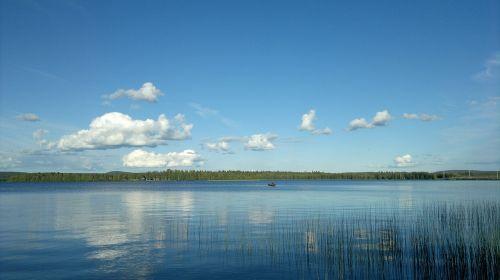 summer lake sky