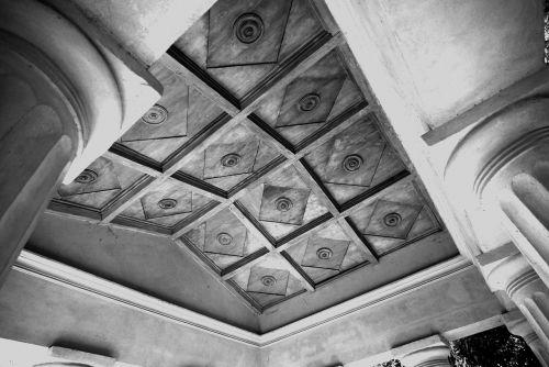 summer-house inlaid ceiling pillar