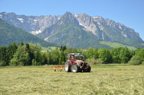 summer in the hills hay tractor