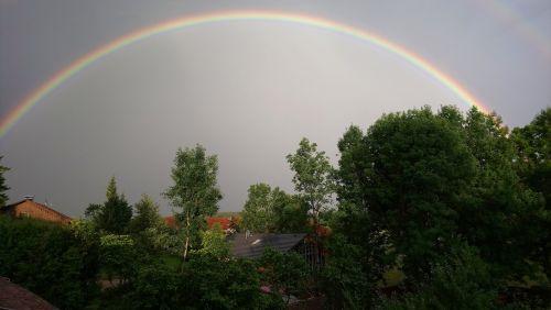 summer thunderstorm thunderstorm rainbow