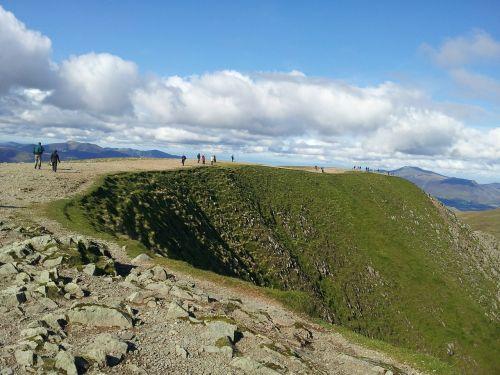 summit helvelyn hill