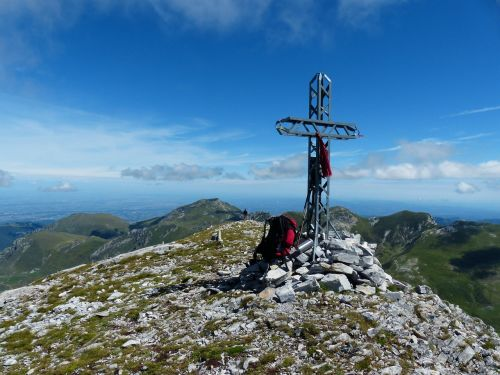 summit cross cima della saline mountain