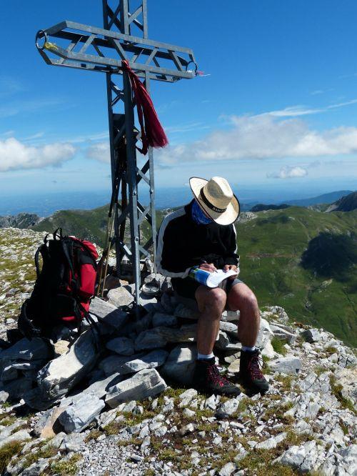 viršūnių susitikimas,keliautojas,aukščiausiojo lygio susitikimas,įėjimas,viršūnių knyga,saulėtas,cima della saline,kalnas,aukščiausiojo lygio susitikimas,kirsti,požiūris,Alpių,jūrų alpės,italy,fiziologinis tirpalas,vaizdas,tolimas vaizdas,numatymas,perspektyva