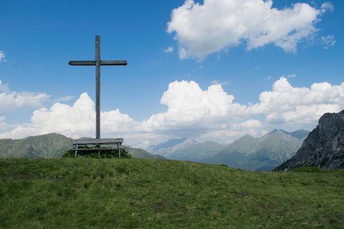 summit cross mountains summit