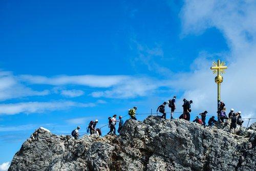 summit cross  mountain  alpine
