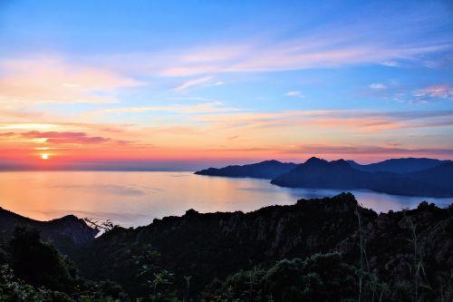 sun sunset sea