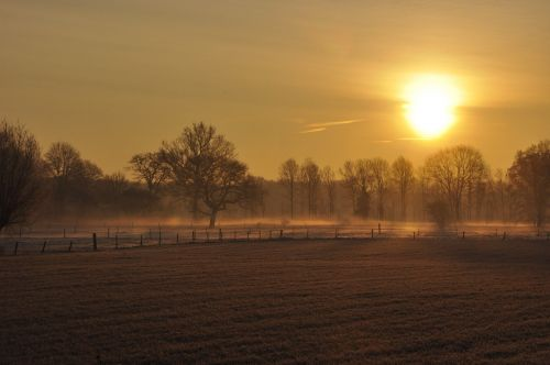 sun winter sun almost set