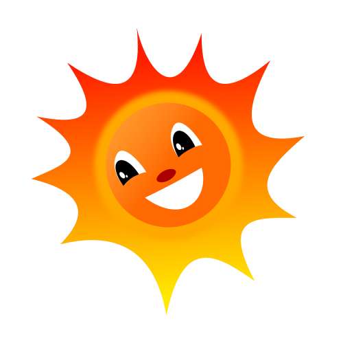 saulė,vasara,šiluma,laimingas,juokiasi,šiluma,nemokama vektorinė grafika