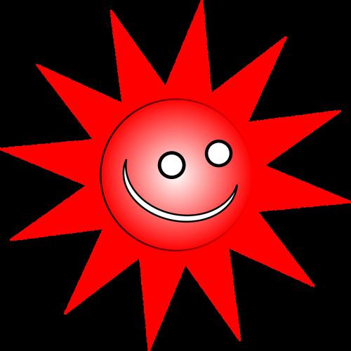 sun happy grinning