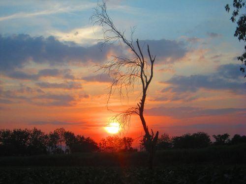 sun evening lord ah thi fall