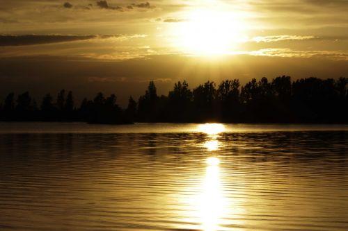 sun sunset water