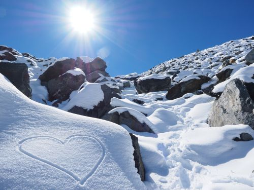 sun snow heart