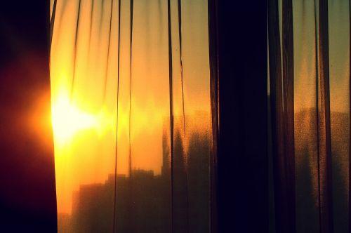 sun tulle window