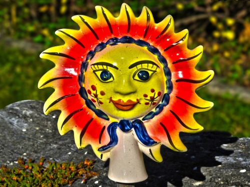 sun ceramic decoration