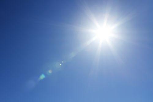 saulė,mėlynas,dangus,gamta,geras žvilgsnis,oras