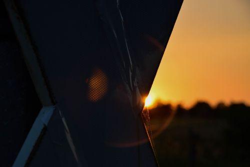 sun sunset abendstimmung