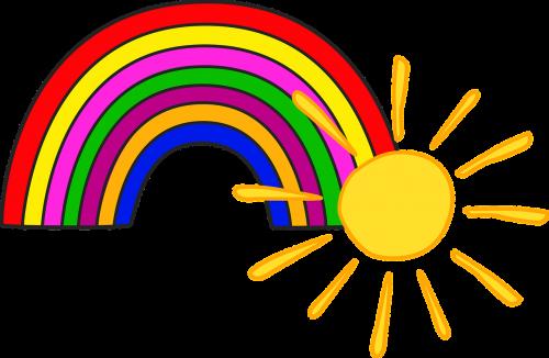 sun rainbow kids