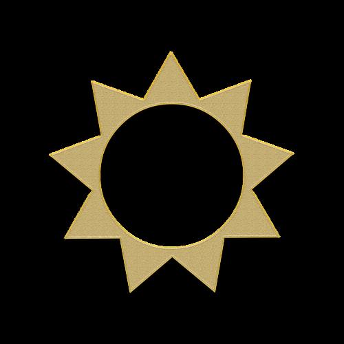 sun gold decor gold