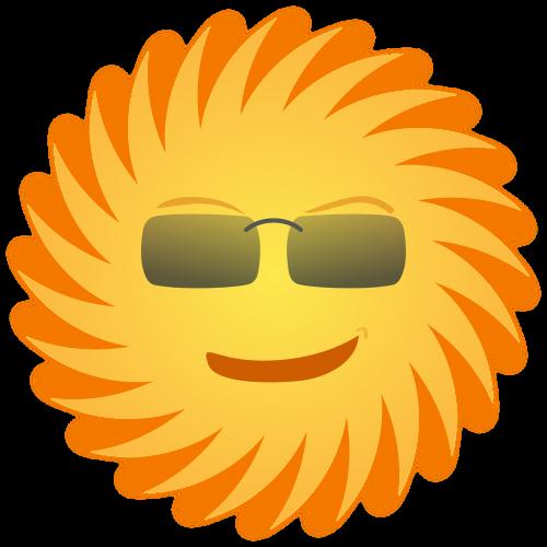 sun sunglasses smiling