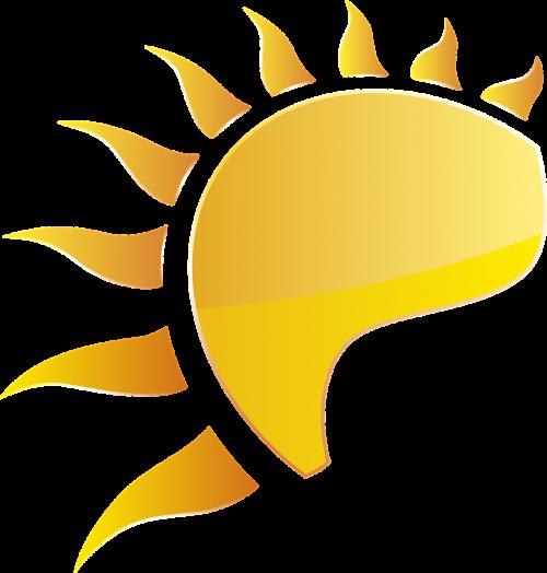 sun summer yellow